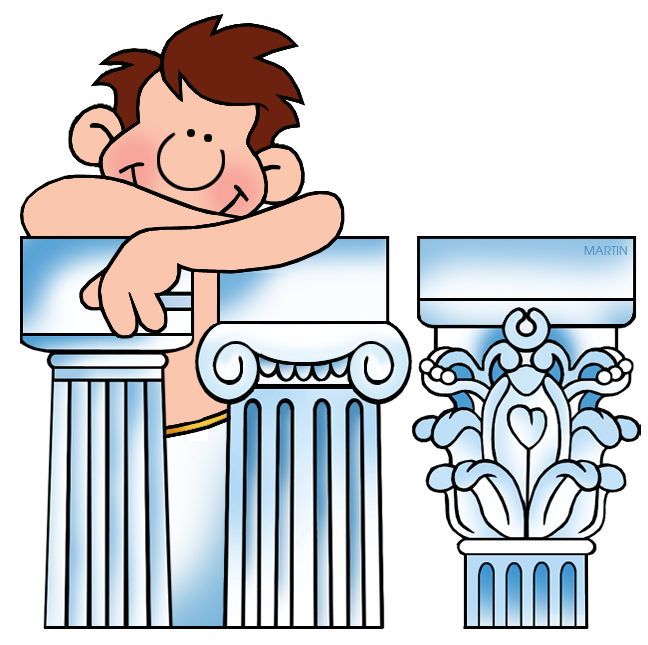 Man with Greek Columns